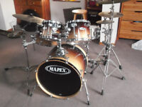Mapex Pro M 5 piece drum kit with cymbals and stands