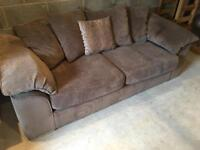 Brand new cord 3 seater sofa and matching chair