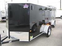 ENCLOSED UTILITY TRAILER 5 x 10 + Vnose - RAMP - STK# 1388