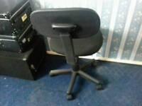 Black swivel chair