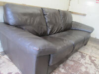 Brown leather sofa - great condition.