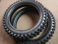 14 + 17 inch brand new tyres for big wheel pit bike pitbike 125 140cc 150 250cc bargain £65 stomp yz