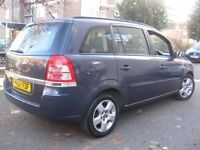 VAUXHALL ZAFIRA 1.6 EXCLUSIVE 2008 **** 7 SEATER FAMILY MPV **** 5 DOOR HATCHBACK