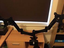 Dual Monitor Arm - Silverstone 22BC