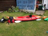 ***SOLD PENDING PICKUP***Perception Scooter Kayak with Paddle, Boyancy aid and Seat