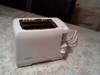 Toaster, white, 2 slices, good condition