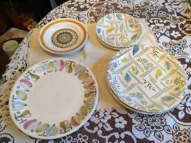 50s retro plates/side plates