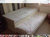Bed with Trundle and matching Wardrobe