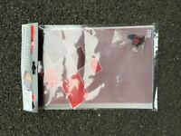 UNIVERSAL MOTORBIKE ALUMINIUM MESH FAIRING INSERT RED 33.5 X 20 cm With Fixings