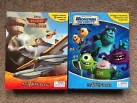 2 x Disney busy books, Monsters Inc and Planes