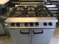 Commercial 6 burner falcon gas cooker catering restaurant hotels pubs cafe bakery