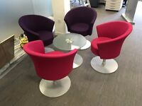 Connection Bobbin Office Chair and Coffee Table Set
