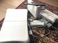 Wii Console, balance board and games