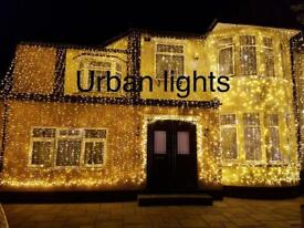 Asian wedding lights hire, wedding lights, outside house wedding lights hire, Indian wedding lights