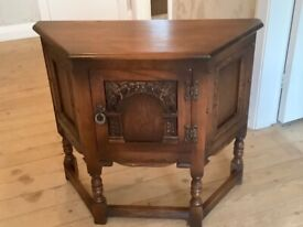 For Sale Old Charm Canted Cupboard