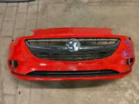 Vauxhall corsa E 2015 2016 2017 2018 2019 2020 front bumper red