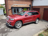 Jeep Grand Cherokee Summit. A superb example of this luxury SUV in Cherry Red Metallic