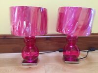 2 Pink Lamps from Next