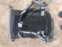 Yellow waterproof rucksack