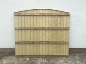 Heavy duty bow top pressure treated bow top fence panels