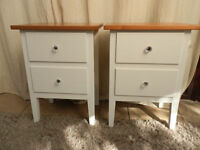 Painted Pine Bedside Tables x 2