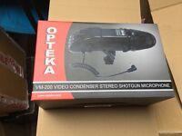 *MINT* Opteka VM-200 Video Condenser Stereo Shotgun Microphone for Digital SLR Cameras & Camcorders