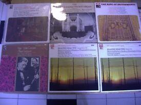 EMI Recordings. Organ Music, Organs and String Classical Albums x 6 Vintage Retro. 12'' 33 rpm. Good