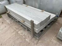 """•NEW• REINFORCED SMOOTH CONCRETE GRAVEL BOARDS/ BASE PANEL - 6FT X 6"""""""