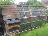 Apex roof chicken coop & run. Made by Jim Vyse Arks as bespoke order - see website for examples.