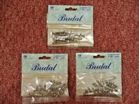 3 Packs of 12 / 36 Metal Bridal Corsage Pins / Safety Pin Clips Floral Crafts Floristry Sundries