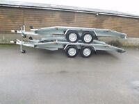 NEW GALAVANISED CAR TRANSPORTER RECOVERY TRAILER 2700KG TWIN AXEL 4.5 M 15FT LONG 2.1 M 6.88FT WIDTH