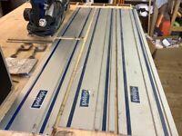 2 x Scheppach plunge saws with 4 x rails