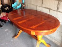 YEW WOOD EXTENDABLE TABLE