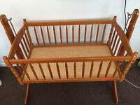 Baby crib and changing table