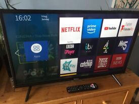"""Fabulous 32"""" Hisense SMART TV, full HD channels, freeview play, immaculate."""