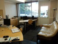 Office to Let for Share includes Desk Chair PC and Filing Cabinet with Shared Kitchen and Toilet