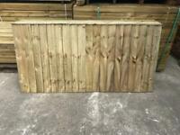 🌤 Various Sized Tanalised Garden Fence Panels