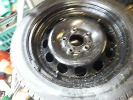 bmw winter tyres on steel rims