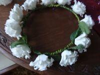 bridal flower head dress
