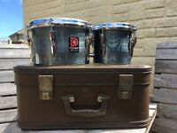Vintage Premier bongo drums plus original case