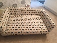 Rare Large Cecil Dog Sofa Bed with Pugs cover