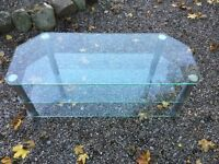 Large Clear glaas TV stand