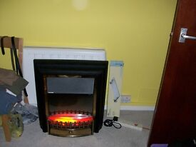 Electric fire with real coal effect