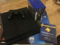 PS4 500gb + 6 games + 3 months PlayStation plus + wireless headset