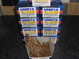 joblot wood screws 10boxes of 5x90 timber decking garden