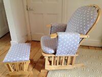 Nursing / Rocking chair with stool