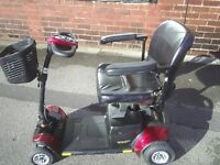 GOGO ELITE TRAVELLER PLUS red mobility scooter , 23 stone weight capacity