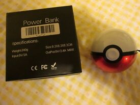 Portable Poké Ball Power Bank Charger for mobiles, ipads etc.