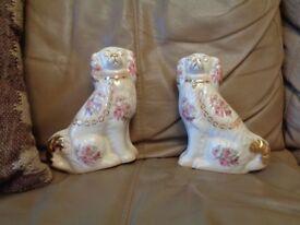Pair of ceramic dogs
