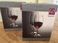 X4 Lead-Free Crystal Red Wine Glass's